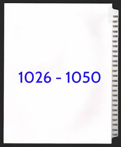 exhibitindexes.com V-SNS-1026-1050 dividers
