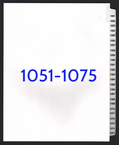 exhibitindexes.com V-SNS-1051-1076 dividers