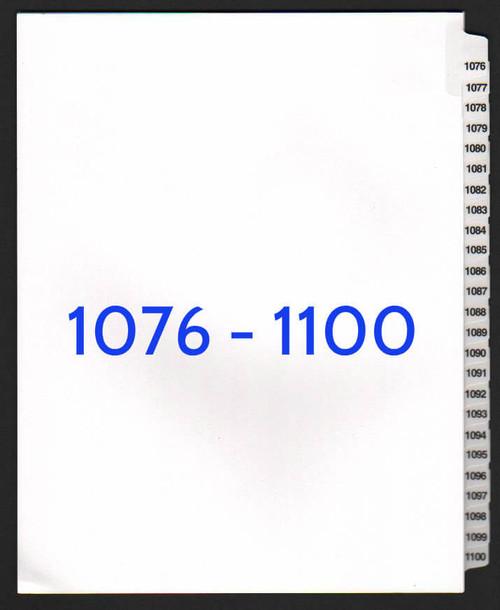 exhibitindexes.com V-SNS-1076-1100 dividers