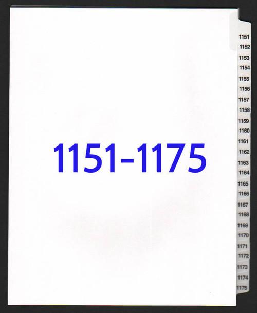 exhibitindexes.com V-SNS-1151-1175 dividers