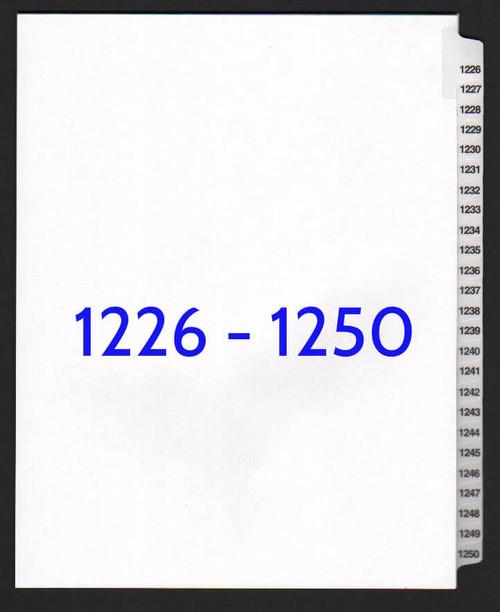 exhibitindexes.com V-SNS-1226-1250 dividers