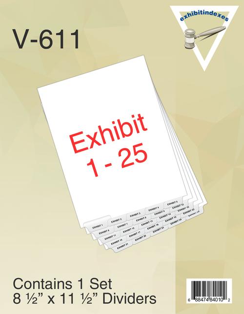1 Set of Exhibit 1-25 Per pack