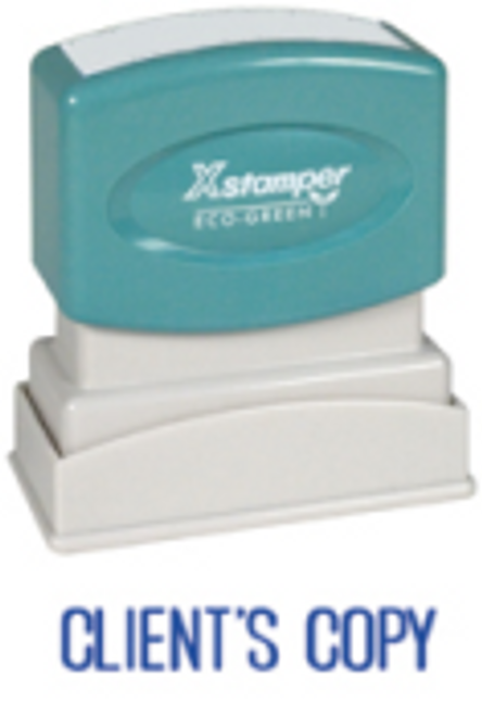 Client's Copy Stamp by X-Stamper