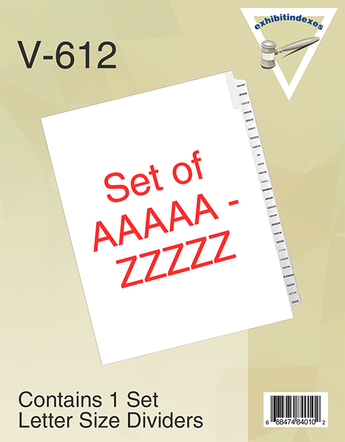 5A-5Z Index Dividers