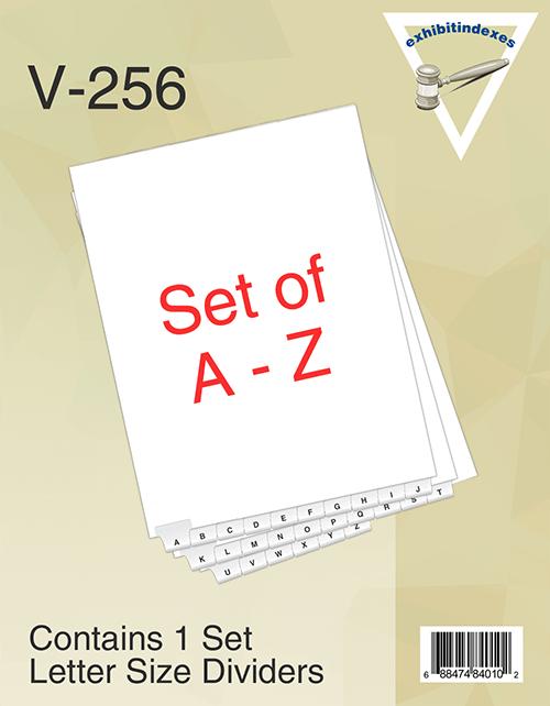 Bottom A-Z dividers