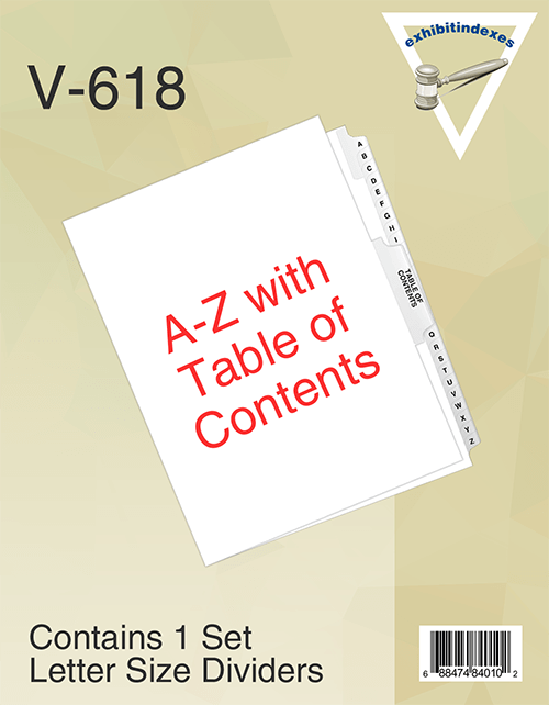 A-Z Dividers With Table of Contents