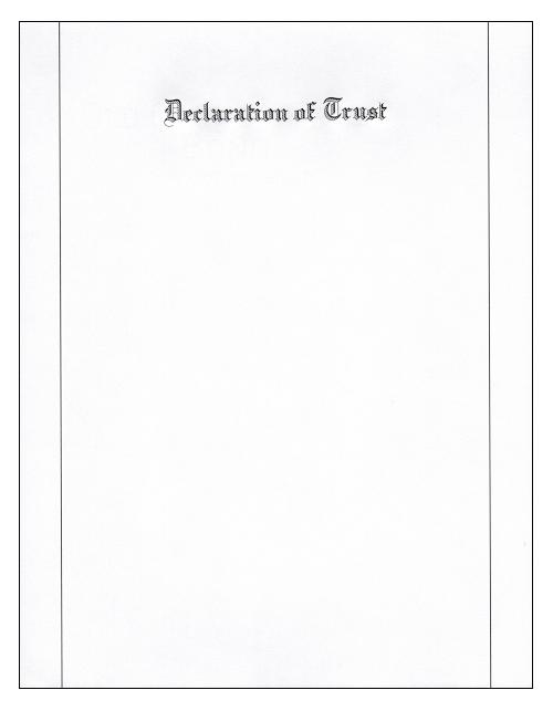 Declaration of Trust Paper
