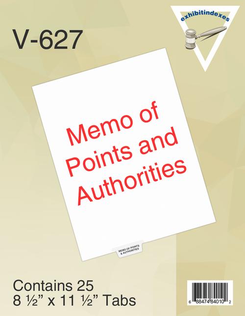Memo of Points & Authorities