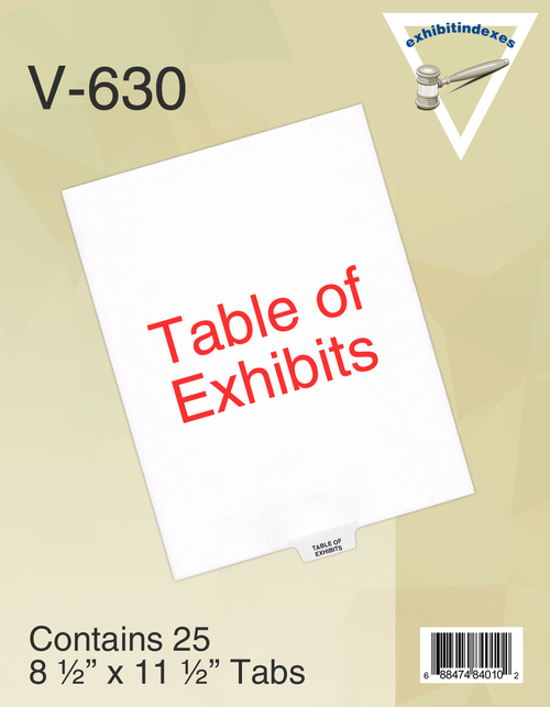Table of Exhibits