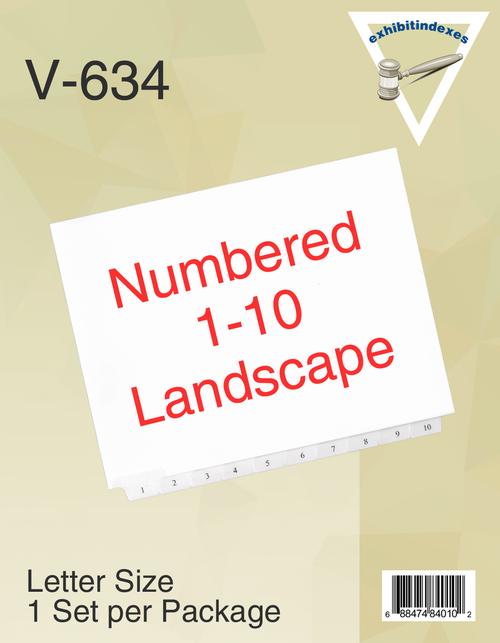 Landscape 1-10 Tabs