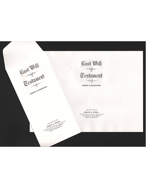 Will Cover and Envelope Set