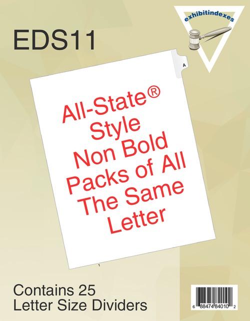 All-State® Style EDS11 Individual Letters
