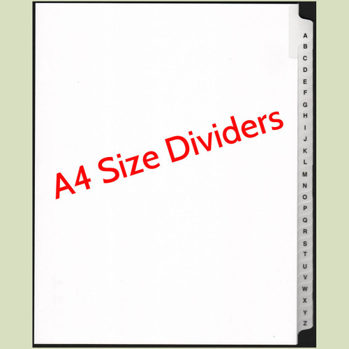 A4 Size A-Z Dividers
