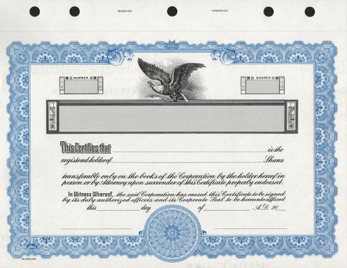 KG3 Corporate Stock Certificates