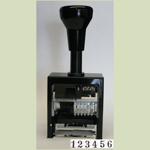 Bates Style Stamp With Ink Cartridge (Best Choice)