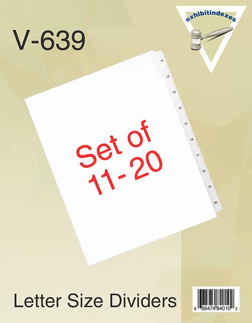 11-20 Side Tab Dividers