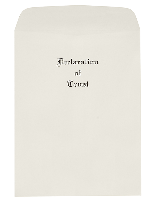 Oversize Declaration of Trust  Envelopes