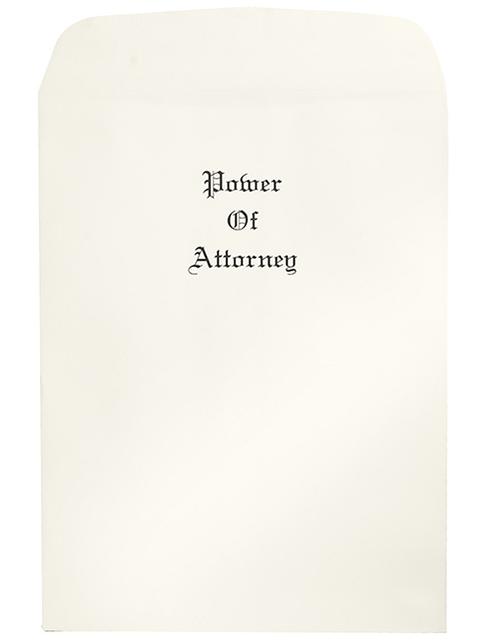 Oversize Power of Attorney Envelopes