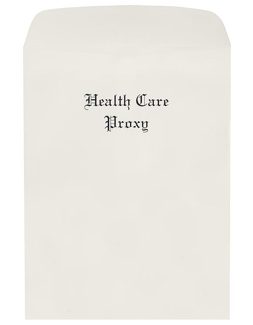 Oversize Health Care Proxy Envelopes