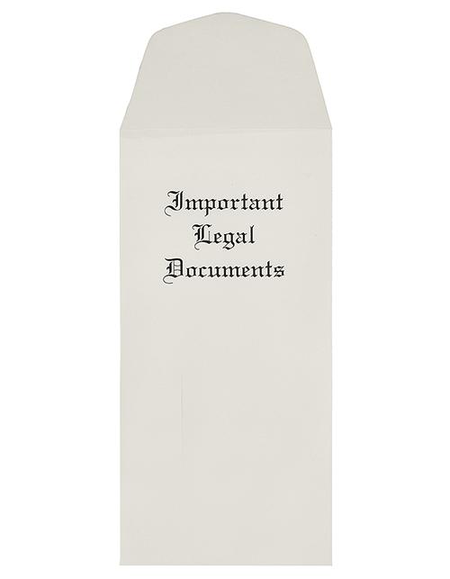 Important Legal Documents Envelopes