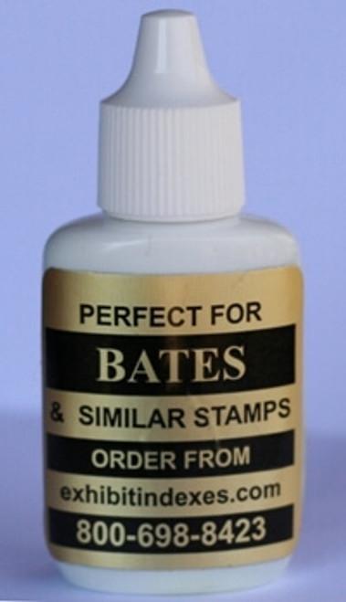 Bates Style Black Ink