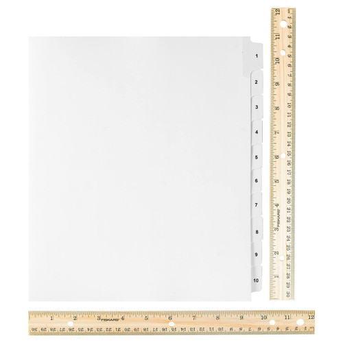 Wide Dividers 1-50