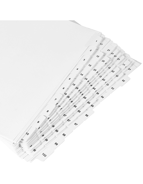 Wide Dividers 1-100