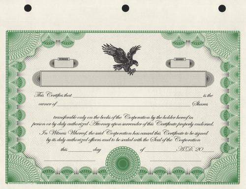 Corporate Stock Certificates