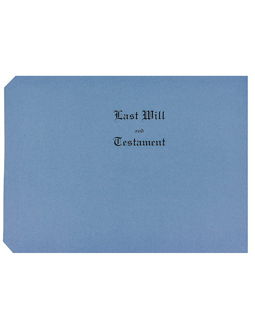 Blue Last Will and Testament Covers