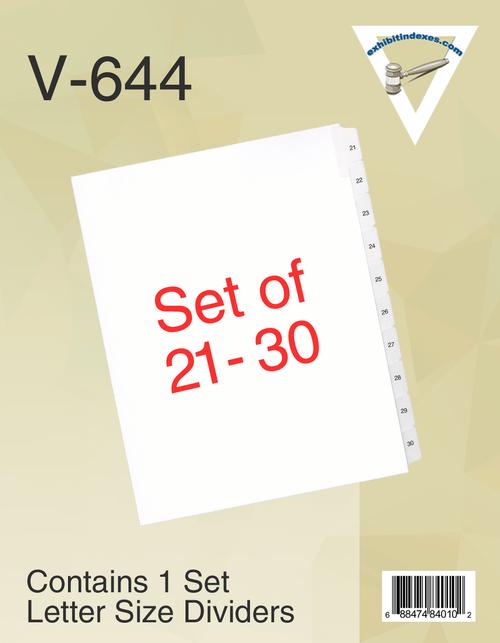 21-30 Side Tab Dividers