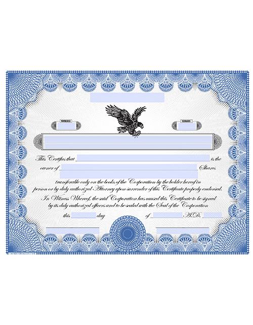 Stock Certificate Printing Template