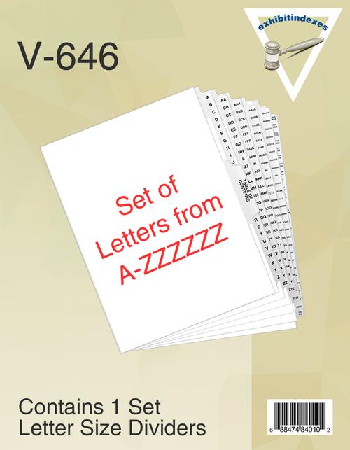 A-ZZZZZZ Dividers (A-6Z)