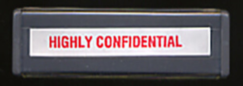 Highly Confidential Stamp