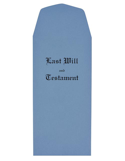Blue Last Will & Testament Envelopes