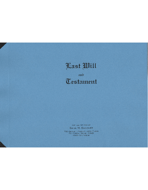 Blue Personalized Last Will & Testament Covers