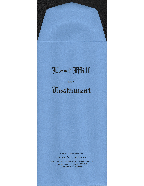 Personalized Blue Last Will and Testament Envelopes