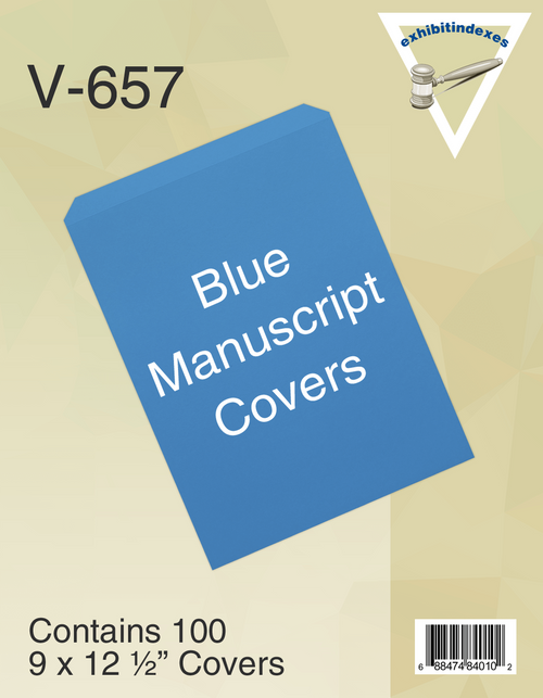 Blue Manuscript Covers