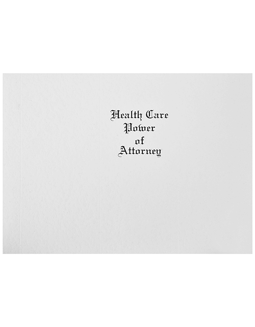 Health Care Power of Attorney Covers