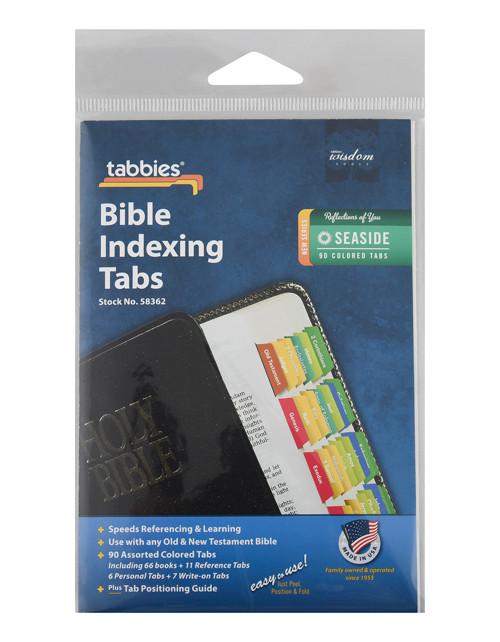 Tabbies 58362 Seaside Colored  Bible Tabs