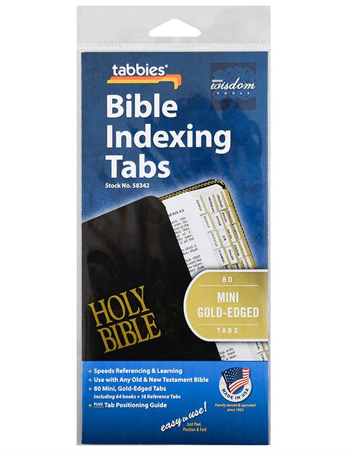 Tabbies 58342 Mini Gold Edge Bible Tabs