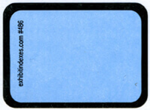 """Blank"" Blue Exhibit Labels #486"