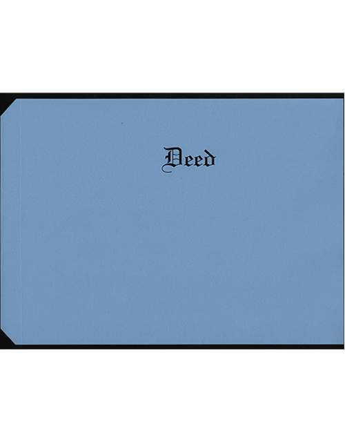 Letter Size  Deed  Covers