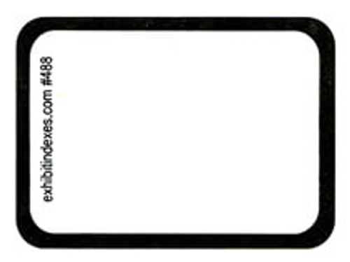 """Blank"" White Exhibit Labels #488"