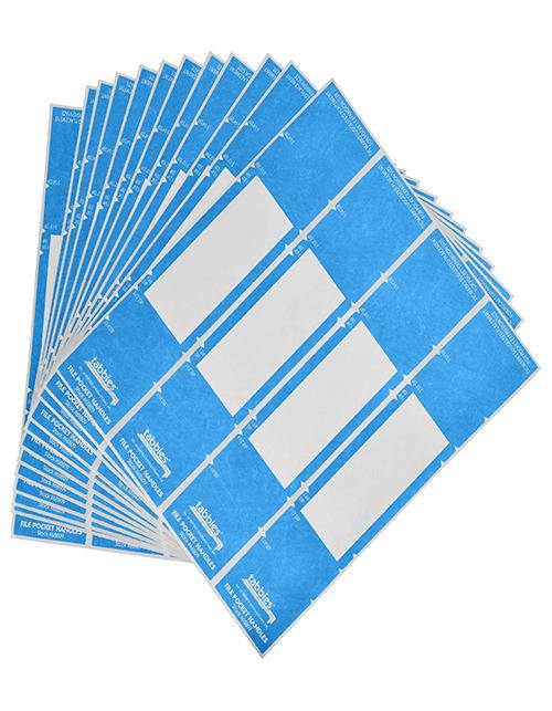 Lt. Blue File Pocket Handles