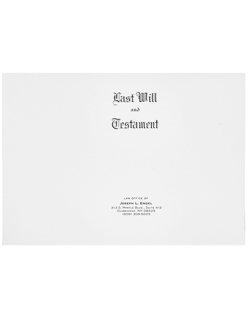 Personalized Will Covers #2386 Letter Size