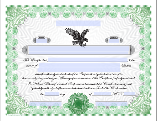 Downloadable Stock Certificates Modified