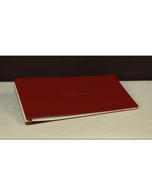 Soft Cover Stock Certificate Binder