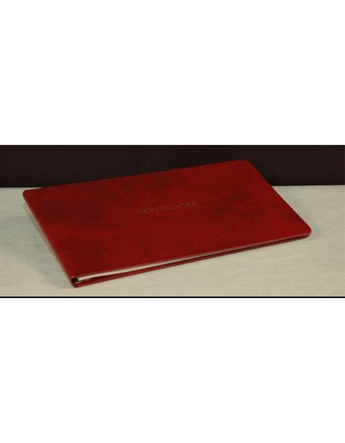 Hard Cover Stock Certificate Binder