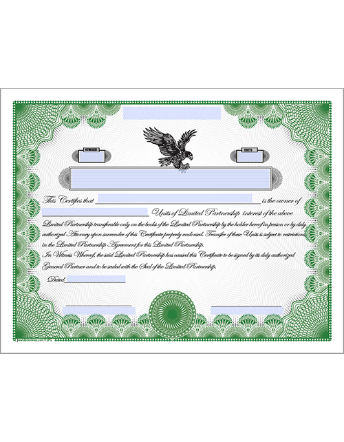 Downloadable Limited Partnership Certificate