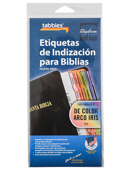 Tabbies Spanish Rainbow Bible Tabs